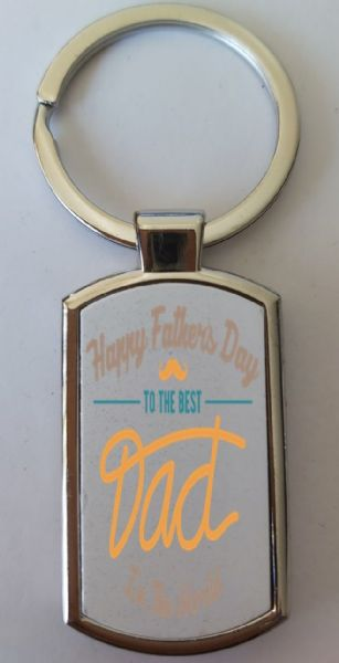 Father's Day Metal Rectangle Key Ring Design 7